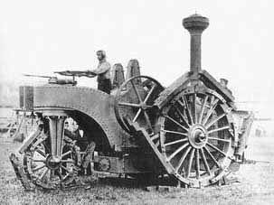 First tracked vehicule